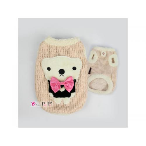 Hundesweater Pretty Pet Bow Tie Bear - pink