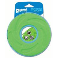 Chuckit Amphibious Flying Ring Frisbee grün klein