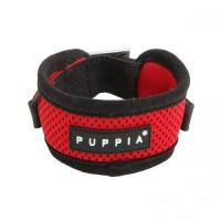 Hundehalsband Puppia Soft Harness Mesh rot