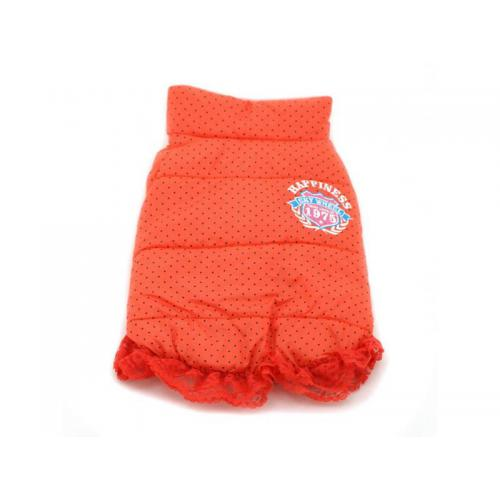 Dobaz Cute Dot Coat Hundemantel orange