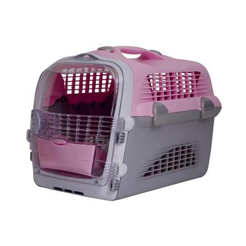 Transportbox Pet Cargo Cabrio - rosa-grau: ZooShop-eu.de