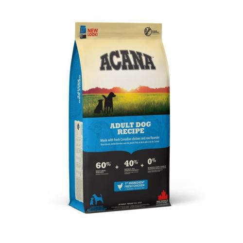 ACANA ADULT DOG 17kg + ACANA GRASS-FED LAMB SNACK 92g GRATIS
