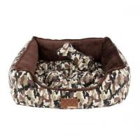 Puppia Hundebett Legend Square - brown camo