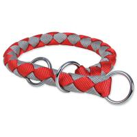 Hundehalsband Trixie Cavo rot/silber L - XL